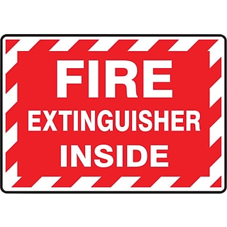 Accuform Signs® Safety Label, FIRE EXTINGUISHER INSIDE, 3½ x 5, Adhesive Vinyl, 5/Pk (LFXG571VSP)