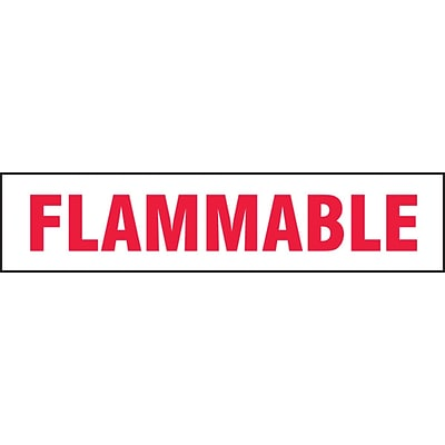 ACCUFORM SIGNS® Safety Label, FLAMMABLE, 2 x 9, Adhesive Vinyl, 5/Pk