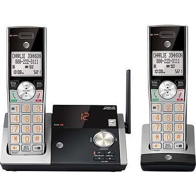 AT&T® CL82215 DECT 6.0 Cordless Answering System, With 2 Handsets