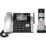 AT&T DECT 6.0 CL84115 1-Handset Cordless Phone w/ Answering System & Caller ID, Slvr/Blck