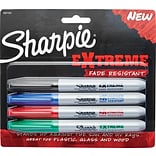 Sharpie® Extreme Fade Resistant Fine Point Permanent Markers, Assorted, 4/Pack