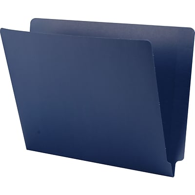 Medical Arts Press® End-Tab Folders; No Fasteners, 11 pt., Navy,  50/Box