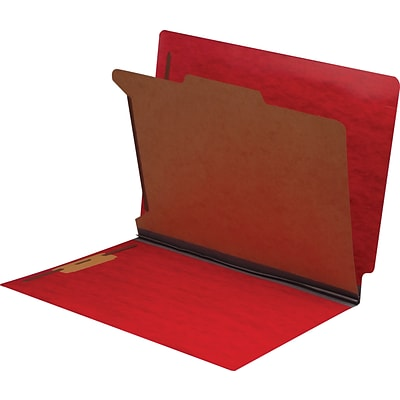 Medical Arts Press® End-Tab Tuf-Files; Standard- 1 Divider, 1 1/4, Red, 15/Box