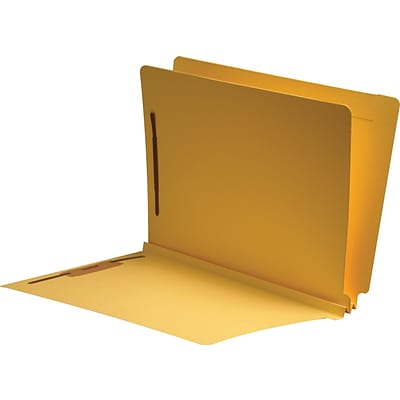 Medical Arts Press® Classification Colored End-Tab Folders; 1 Divider, Yellow, 25/Box