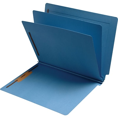 Medical Arts Press® Classification Colored End-Tab Folders; 2 Dividers, Blue, 15/Box
