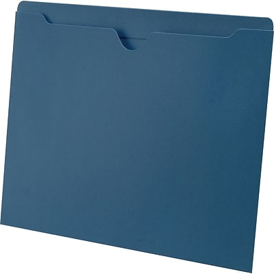 Medical Arts Press® Letter Size Top-Tab File Pockets; 11 pt., No Expansion, Blue, 100/Box