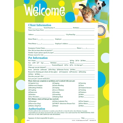 Medical Arts Press® Welcome/Registration Forms, Patchwork