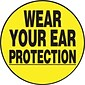 "ACCUFORM SIGNS® Hard Hat/Helmet Decal, WEAR YOUR EAR PROTECTION, 2¼"", Adhesive Vinyl, 10/Pk"