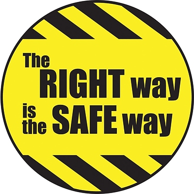 Accuform Signs® Hard Hat/Helmet Decal, THE RIGHT WAY IS THE SAFE WAY, 2¼, Adhesive Vinyl, 10/Pk (LHTL192)