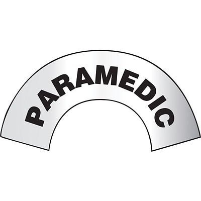 ACCUFORM SIGNS® Emergency Response Reflective Helmet Sticker, PARAMEDIC, 3 x 6-7/8, Adhesive Vinyl
