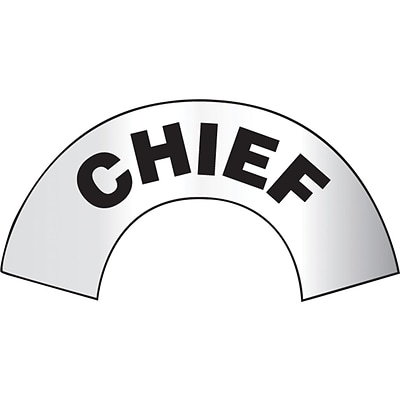 ACCUFORM SIGNS® Emergency Response Reflective Helmet Sticker, CHIEF, 3 x 6-7/8, Adhesive Vinyl