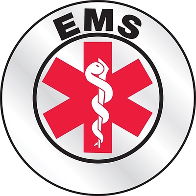 ACCUFORM SIGNS® Emergency Response Reflective Helmet Sticker, EMS, 2¼, Reflective Adhesive Vinyl