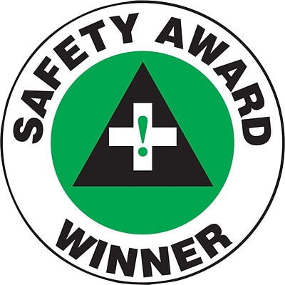 ACCUFORM SIGNS® Hard Hat/Helmet Decal, SAFETY AWARD WINNER, 2¼, Adhesive Vinyl, 10/Pk