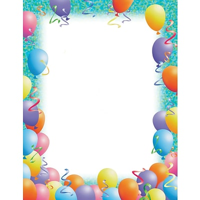 Great Papers! Birthday Letterhead, Party Balloons, 80/Pack (2014113)