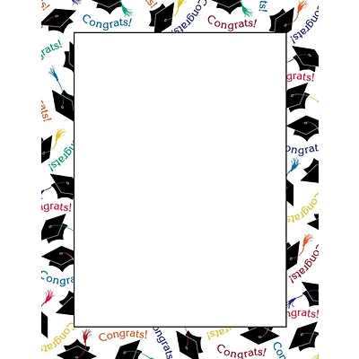Great Papers 8.5 x 11 Graduation Letterhead 80/Pack (2014242)