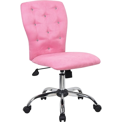 Tiffany Microfiber Chair; Pink