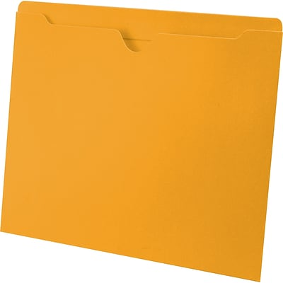 Medical Arts Press® Letter Size Top-Tab File Pockets; 11 pt., No Expansion, Goldenrod, 100/Box