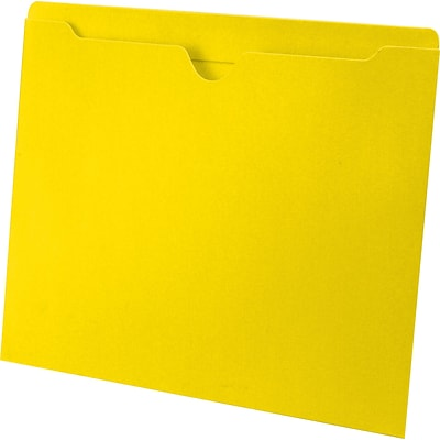 Medical Arts Press® Letter Size Top-Tab File Pockets; 11 pt., No Expansion, Yellow, 100/Box