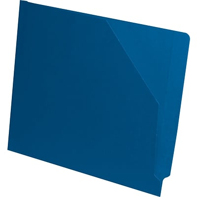 Medical Arts Press® End-Tab Slant File Pockets; Blue, Full Tab, 11 pt., No Expansion, 100/Box
