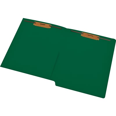 Medical Arts Press® 11 pt. Colored End-Tab Pocket Folders; 2 Fasteners, Green, 50/Box