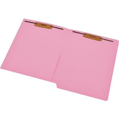 Medical Arts Press® 14 pt. Colored End-Tab Pocket Folders; 2 Fasteners, Pink, 50/Box