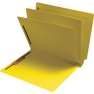 Medical Arts Press® Classification Colored End-Tab Folders; 2 Dividers, Yellow, 15/Box
