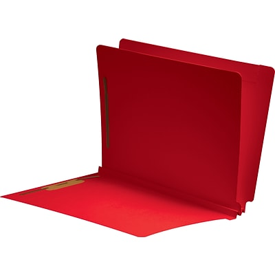 Medical Arts Press® Classification Colored End-Tab Folders; 1 Divider, Red, 25/Box