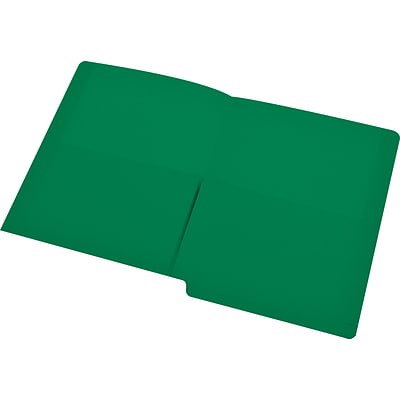 Medical Arts Press® End-Tab Folders with Twin 1/2 Pockets; No Fasteners, Green, 50/Box