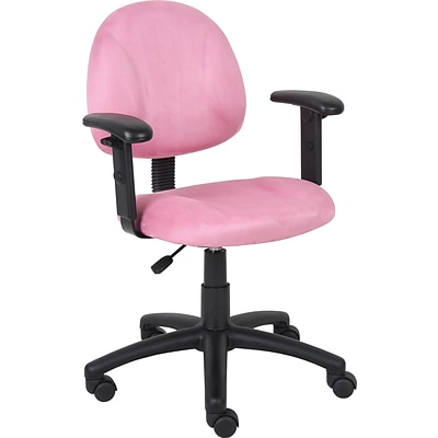 Boss Pink Deluxe Posture Chair W/ Adjustable Arms.