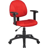 Red Deluxe Posture Chair W/ Adjustable Arms