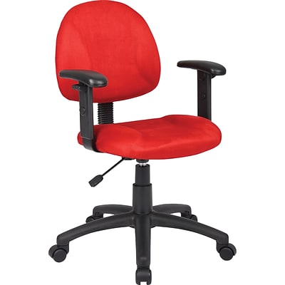 Boss Red Deluxe Posture Chair W/ Adjustable Arms.