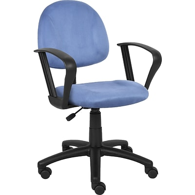 Boss Blue Deluxe Posture Chair W/ Loop Arms.