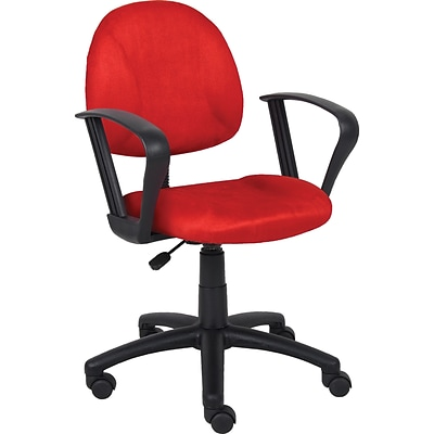 Boss Red Deluxe Posture Chair W/ Loop Arms.