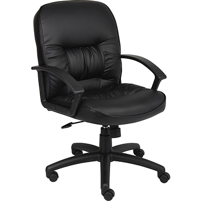 Boss Mid Back Leatherplus Executive Chair