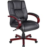 Boss Mid Back Executive Wood Finished Chairs (B8996-M)