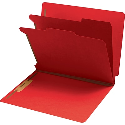 Medical Arts Press® End-Tab Tuf-Files; Standard- 2 Divider, 2, Red, 75/Box