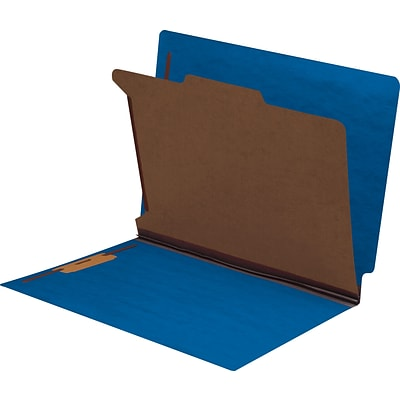Medical Arts Press® End-Tab Tuf-Files; Standard- 1 Divider, 1 1/4, Blue, 75/Box