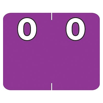 Medical Arts Press® Numeric Labels on Roll; 0, Purple