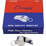 Metal Whistle; Set of 12