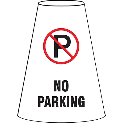 ACCUFORM SIGNS® Traffic Cone Cuff™ Sleeve, NO PARKING, Reinforced Vinyl, Each
