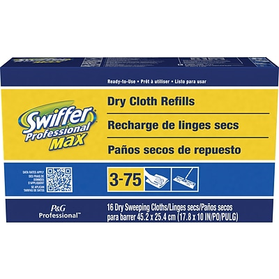 Swiffer® Sweeper Max Dry Cloth Refills, 16 Cloths/Pack, 6 Packs/Case