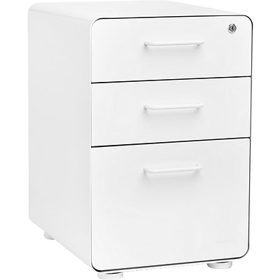 Poppin Locking Metal File Cabinet, 3 Drawer, 24, Letter/Legal Size