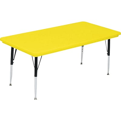 Correll® 36D x 60L Rectangular Heavy Duty Activity Table; Yellow High Pressure Laminate Top