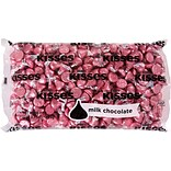 Hersheys Kisses Milk Chocolate with Pink Foils Bag, 4.1 lb.