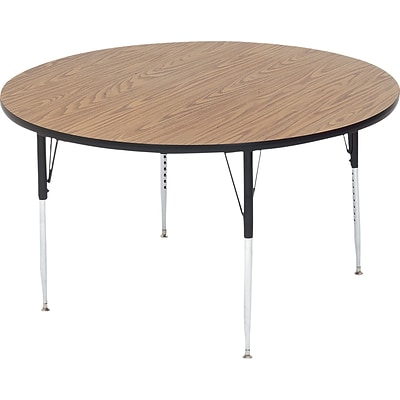 Correll® 42 Round Heavy Duty Activity Table; Oak High Pressure Laminate Top