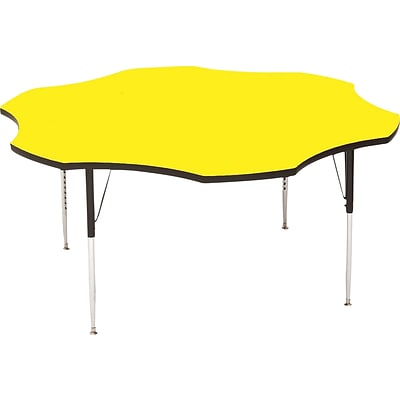 Correll® 60 Flower Shaped Heavy Duty Activity Table; Yellow High Pressure Laminate Top