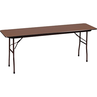 Correll® 18D x 60L Folding table; Walnut Melamine Laminate Top