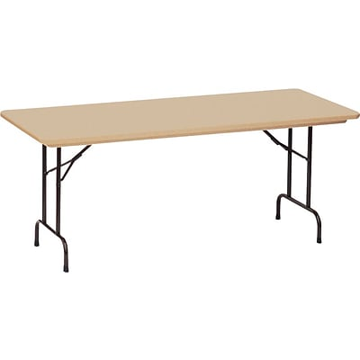 Correll® 30D x 60L Heavy Duty Plastic Folding Table; Mocha Granite Top