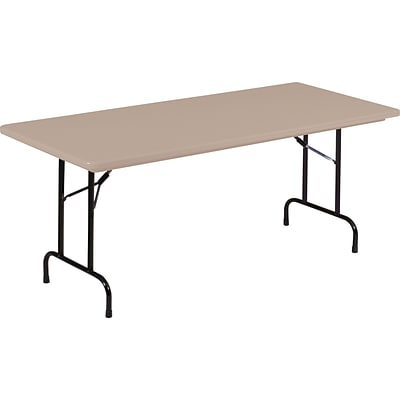 Correll® 30D x 72L Heavy Duty Plastic Folding Table; Mocha Granite Top