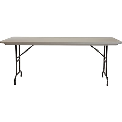 Correll® 30D x 72L Heavy Duty Adjustable Height Plastic Folding Table; Gray Granite Top